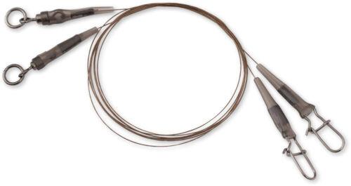 Quantum QLeader 2x Stahlvorfach Edelstahl Vorfach Raubfisch camo steel 12kg 60cm
