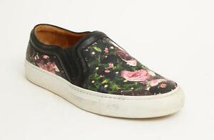 40f03f2b501 GIVENCHY Floral Print Rose Leather Slip On Low Tops Sneakers Loafers ...