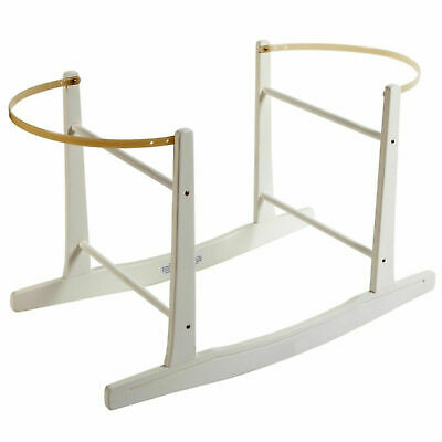 Deluxe Moses Basket Rocking Stand White