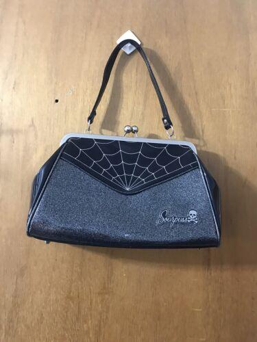 Sourpuss Kisslock Spiderweb Purse