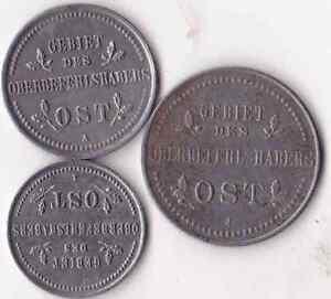 S-U-P-TTB-ALLEMAGNE-1-2-3-Kopecks-Monnaies-du-commandement-du-front-Est