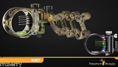 Trophy Ridge React 5 pin Realtree Camo Bow Sight w/ Smart Pin Technology #AS805