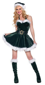 Image Is Loading STOCKING STUFFER ADULT WOMENS COSTUME Bustier Dress Christmas