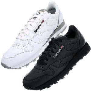 reebok classic leather black or white men's / women's