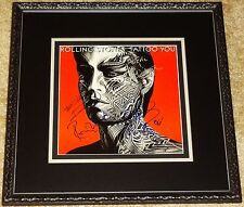 THE ROLLING STONES TATTOO YOU HAND SIGNED AUTOGRAPHED CUSTOM FRAMED ALBUM! PROOF