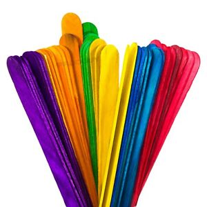 200-Pack-Colour-Regular-Lollipop-Childrens-Craft-Sticks-Ice-Lolly-Mould-Stick
