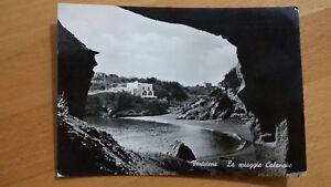Cartolina-Post-card-VENTOTENE-la-spiaggia-di-Calanave-viaggiata-per-Firenze-1963