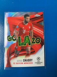 Topps Champions League Chrome 2020/21 Serge Gnabry Golazo Insert