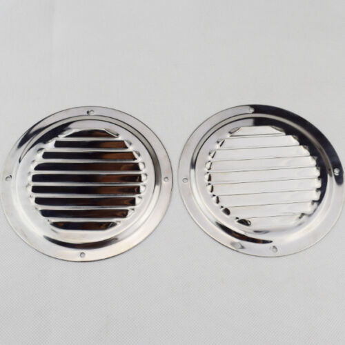 Round Louvre Air Vent Ventilation Grille Cover Stainless Steel 2PCS  5/'/' 150mm