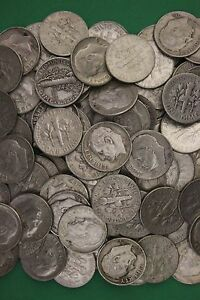 MAKE OFFER Half Troy Pound Mercury /& Roosevelt Dimes Junk Coins Silver Coins