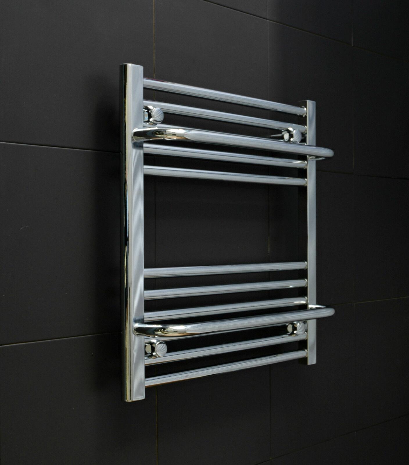 550 mm large 600 mm haute chauffée Designer Chrome Serviette Radiateur Vestiaire chauffage NOUVEAU