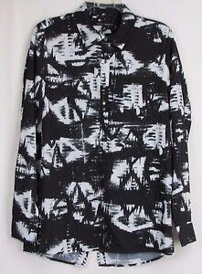 Dolce-Vita-Black-amp-White-Long-Sleeve-Top-Women-039-s-Size-Small
