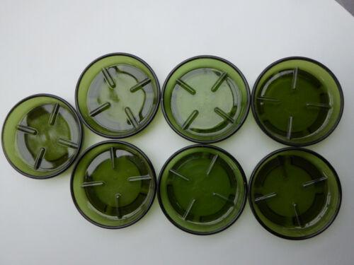 7 alte Glasuntersetzer Glasteller Untersetzer Blumentopfuntersetzer neu 10 cm