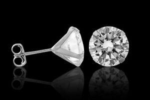 4-00CT-Solid-14K-White-Gold-Round-Diamond-Push-Back-Stud-Earrings