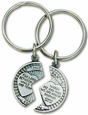 Mizpah Coin Keyring Set of 2, Genesis 31:49, The Lord Watch Between Me And Thee