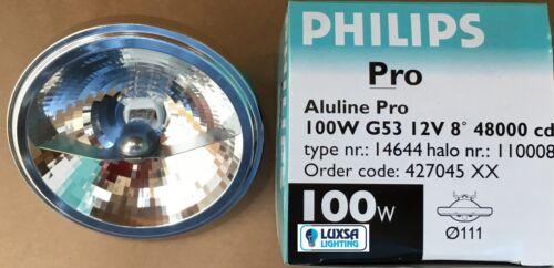 Packs of Philips Aluline Pro Halogen 111 12V 12 Volt 100W 100 Watt 8º 41850SP