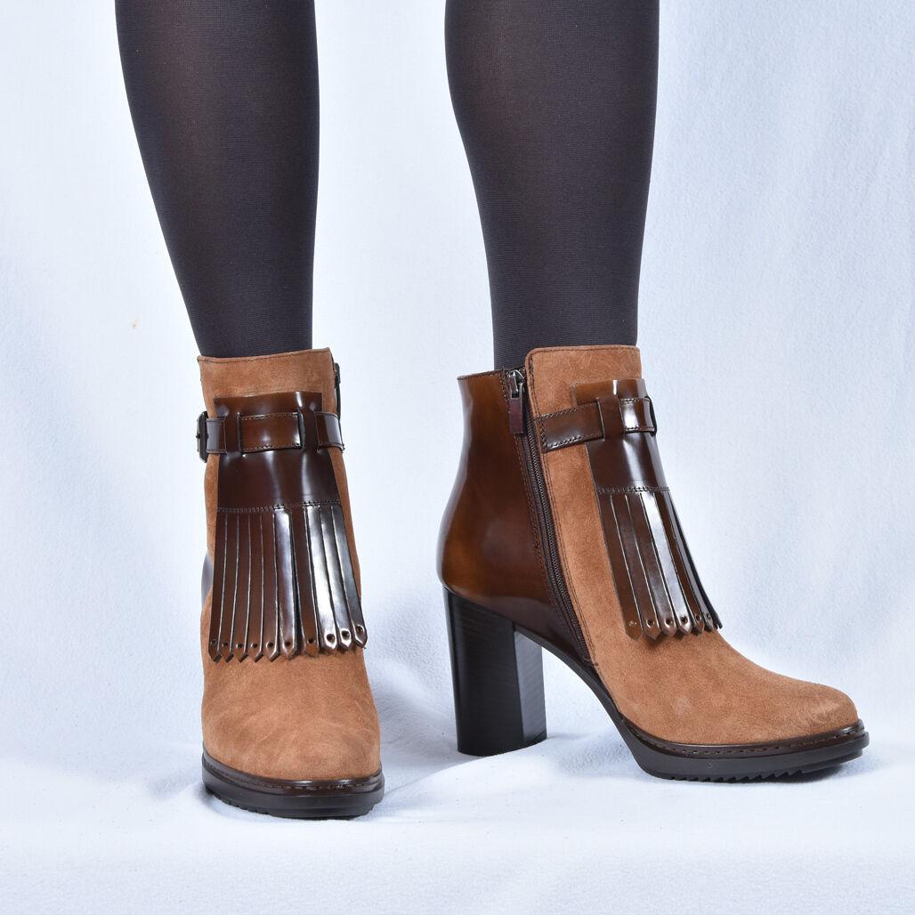 New peperosadodo señora botines botas botas botas de cuero marrón 37 39 40 zapatos  muchas sorpresas
