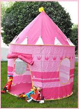 Children Portable Pop Up Play Tent Kids Princess prince Castle Fairy Tent House