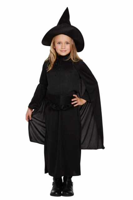 Halloween Girl Witch Childs Fancy Dress Up Dressing Up Costume Outfit Party NEW