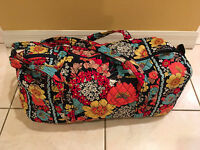 Vera Bradley Large Duffle / Travel Bag In Happy Snails