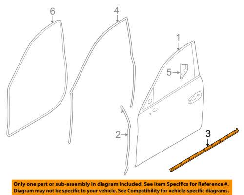Car & Truck Parts PORSCHE OEM 10-16 Panamera Front Door-Lower ...