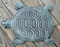 Iron Verdigris Garden Turtle Stepping Stone, New, Free Shipping