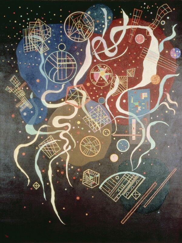 Poster oder Leinwand Bild W. Kandinsky Abstrakte Motive Muster Malerei Bunt A3WN