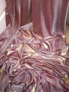 "1 MTR QUALITY HOT PINK//GOLD SHIMMER CHIFFON FABRIC...58/"" WIDE £2.49"
