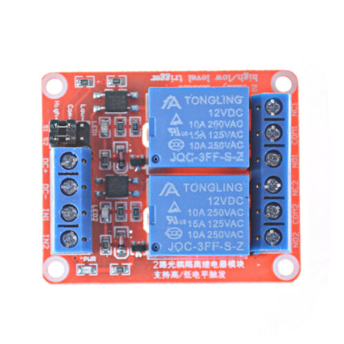 2 Channel 12V Relay Module Board Shield With Optocoupler Support Trigger Relay !