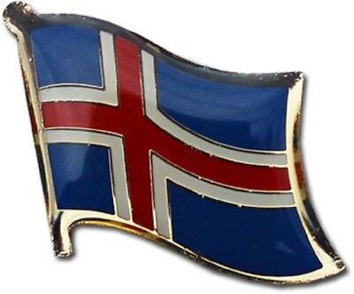 (2 Pack Iceland Landesflagge Motorrad Kappe Anstecknadel Belebende Durchblutung Und Schmerzen Stoppen