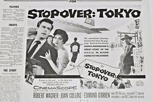 STOPOVER-TOKYO-pressbook-Robert-Wagner-Joan-Collins-Edmond-O-039-Brien-1957-VTG