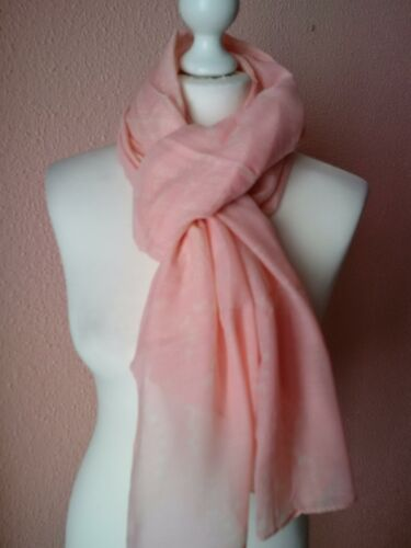 Large Pink Wrap Shawl Stole Lightweight Rectangle Everyday Scarf UK Seller