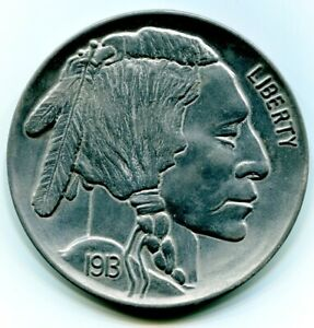 Large-3-Inch-Novelty-Medal-Coin-Coaster-Paperweight-1913-S-Buffalo-Head-Nickel