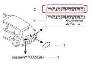 "[NEW] JDM Subaru FORESTER SJ Emblem Rear ""FORESTER"" Genuine OEM"