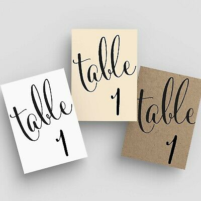 7Penn Table Number Centerpieces 1-20 for Events and Weddings Clearance