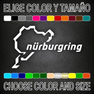 PEGATINA-NURBURGRING-vinilo-coche-autocollant-aufkleber-adesivi-sticker-auto-car