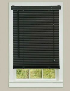Pvc Black Venetian Blinds Home Office