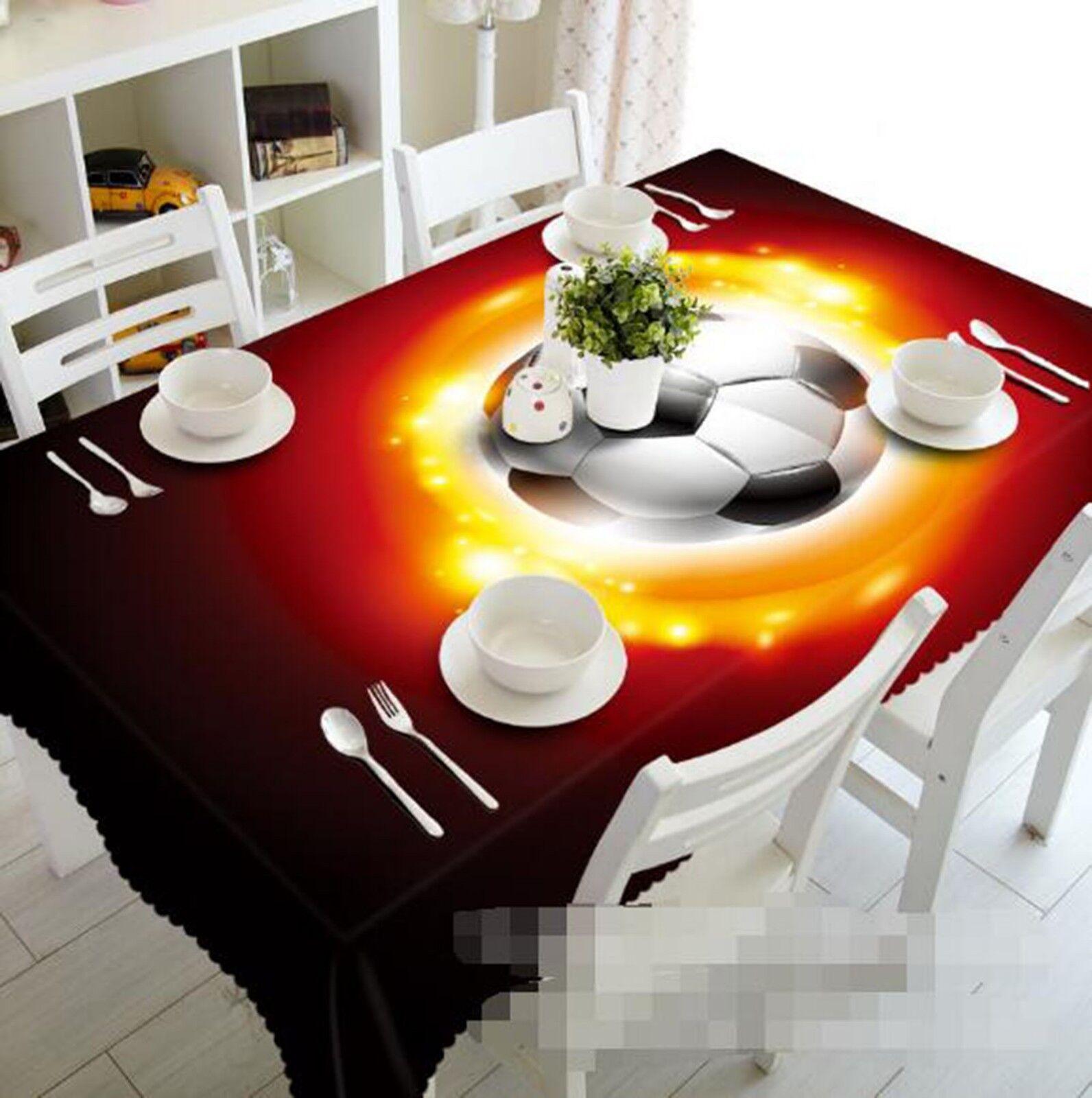 3D Football 033 Tablecloth Table Cover Cloth Birthday Party Event AJ Lemon