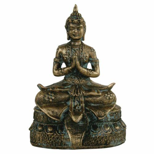 Thai Buddha Figur sitzend Buddhismus Hausaltar Dekofigur Meditation Feng Shui