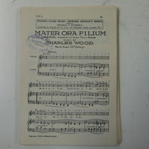 choral vocal score MATER ORA FILIUM charles wood UNISON