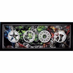 MARVEL-COMICS-AVENGERS-GLASS-SHADOW-BOX-13-034-HULK-IRON-MAN-THOR-CAPTAIN-AMERICA