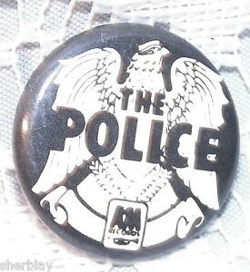 Vintage-THE-POLICE-Musicians-70-039-s-80-039-s-Promo-Button-Pin-Badge-Pinback-RARE