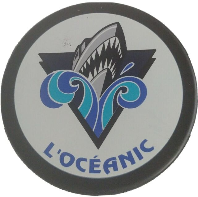 RIMOUSKI OCEANIC QMJHL OFFICIAL HOCKEY PUCK INGLASCO MFG. MADE IN SLOVAKIA 🇸🇰