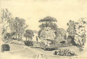 James-Davey-1856-Graphite-Drawing-Chinthurst-Near-Guildford