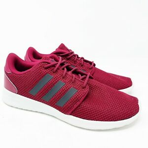Masacre Paraíso Deudor  Adidas Women Shoes Size 8.5 Sneaker Tennis Shoe QT Racer Cloudfoam Maroon  Black | eBay