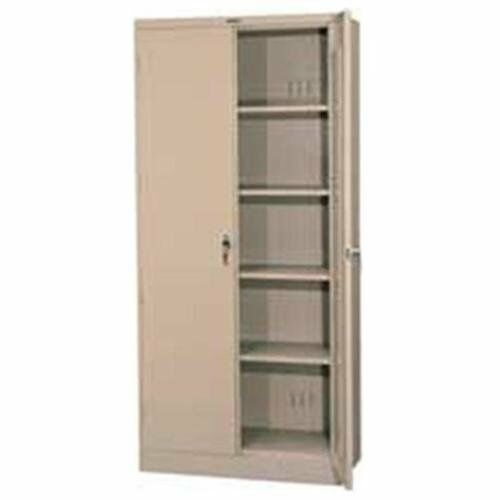 Tennsco Full-height Deluxe Storage Cabinet - 36  X 24  X 78  - Metal - Security