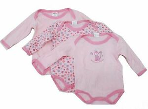 8ae6c44dac3b4 Image is loading Newborn-Baby-Girl-Infant-Long-Sleeve-Pink-Bodysuit-