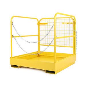 36-034-x36-034-Forklift-Safety-Cage-Steel-Sturdy-Work-Platform-Lift-Aerial-Basket-749lb