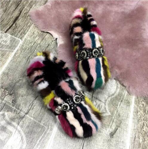 schoenen enkel dikker warme bont Womens snowboots winter strass kleuren gemengde aOWwzq