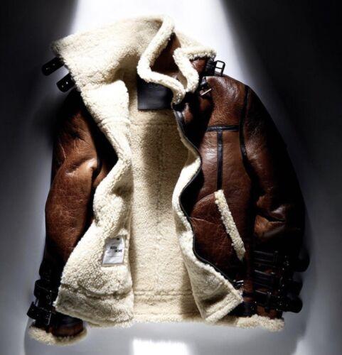 mens shearling jacket medium